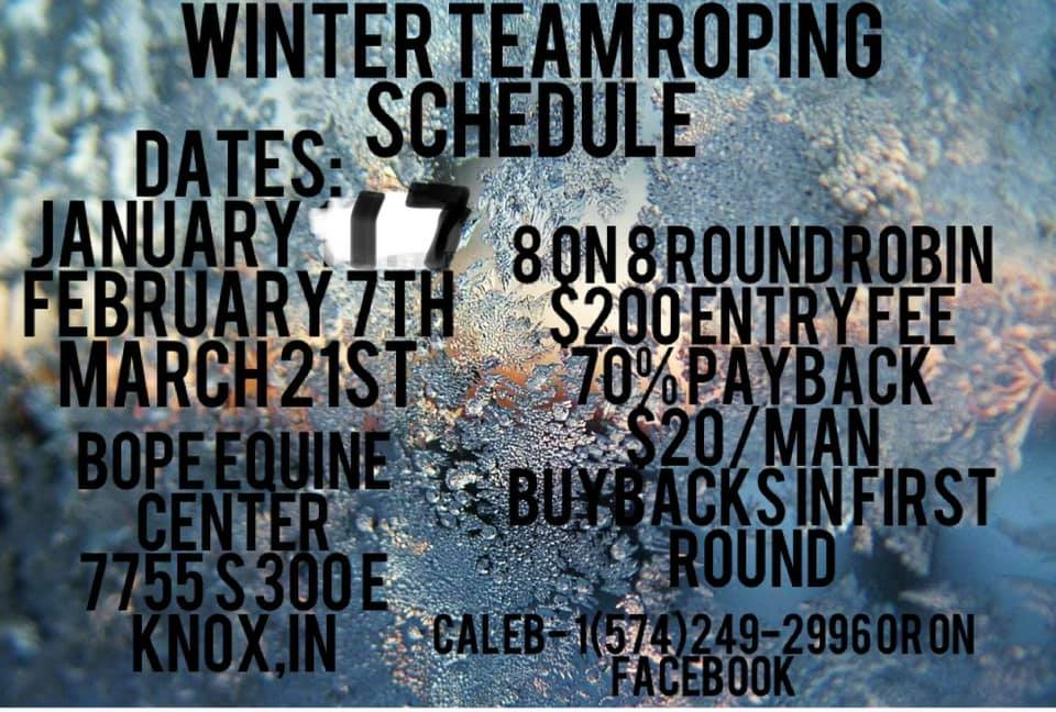 Winter Team Roping