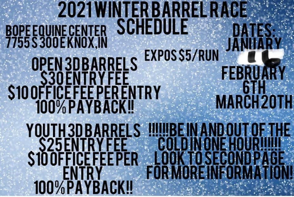 2021 Winter Barrel Race